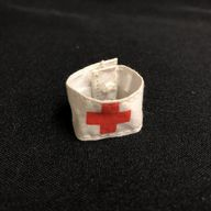 VINTAGE ACTION MAN - MEDIC RED CROSS ARMBAND